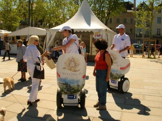 Location gyropode segway street marketing en Bretagne